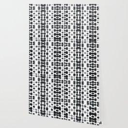 Shibori Ikat Habotoi BW Wallpaper