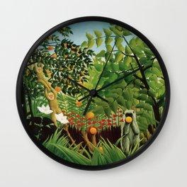 Henri Rousseau Exotic Landscape Wall Clock