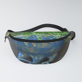 Succulent in Blue Wall Sconce Fanny Pack