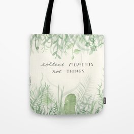 Collect Moments foliage watercolor Tote Bag