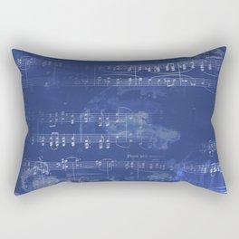 Sheet Music - Mixed Media Partiture #5 Rectangular Pillow