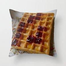 Waffles & Tetrimino Jam Throw Pillow
