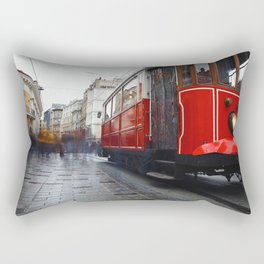 People on the Istiklal Street Rectangular Pillow