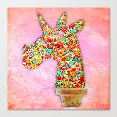 Sprinkled Unicorn Ice Cream Canvas Print