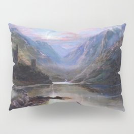 Irish Landscape of Donegal Sunset Mountains and Loch landscape by Lough Beagh  Pillow Sham