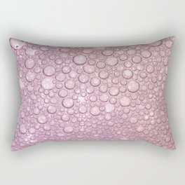 Rose pink abstract geometrical polka dots texture Rectangular Pillow