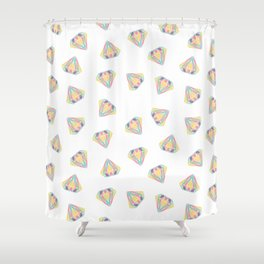 Colorful Diamonds Pattern - gemstones pattern Shower Curtain