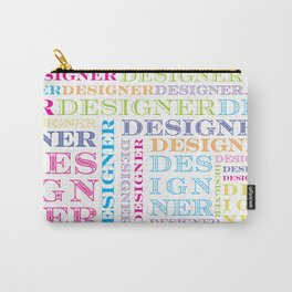 Designer Grid Carry-All Pouch