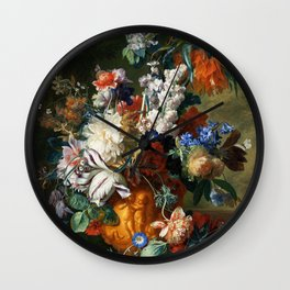 "Jan van Huysum ""Bouquet of Flowers in an Urn"" Wall Clock"