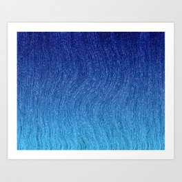 lines wavy white abstract background Art Print