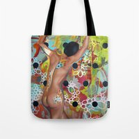 door Tote Bags featuring Door by Kim Leutwyler
