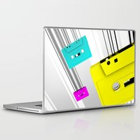 cassette Laptop & iPad Skins featuring Cassette by Delaney Digital