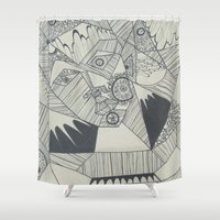 naked Shower Curtains featuring Naked by Annemiek Boonstra