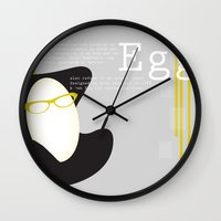 egg Wall Clocks featuring Egg by bri musser