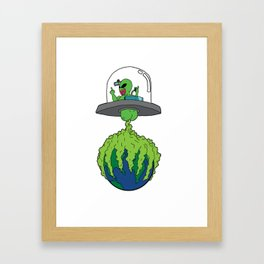 Part-time invader, full-time crop duster Framed Art Print