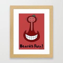 Beards are Cool Framed Art Print