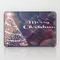 merry christmas iPad Cases featuring Merry Christmas by Judy Palkimas