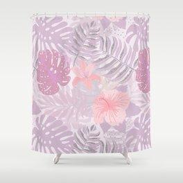 My Pink Abstract Aloha Flower Jungle Garden Shower Curtain