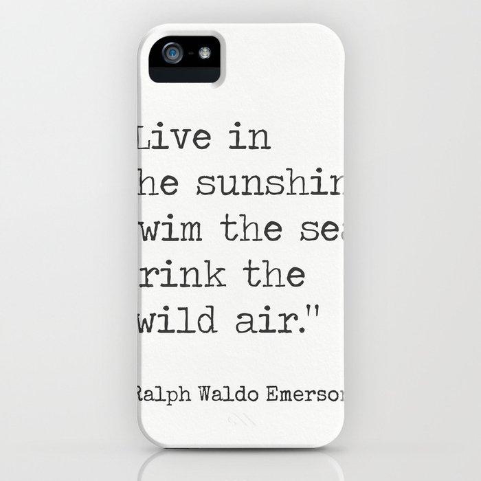 Ralph Waldo Emerson quote 1 iPhone Case
