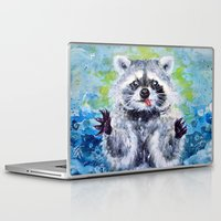 raccoon Laptop & iPad Skins featuring Raccoon by Alina Rubanenko