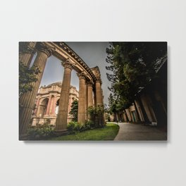 curves for lines - palace of fine arts Metal Print