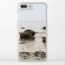 Stones in the water. Clear iPhone Case