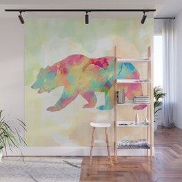 Abstract Bear Wall Mural