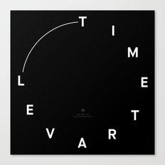 Timetravel Wall Clock Canvas Print