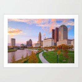 Columbus 01 - USA Art Print