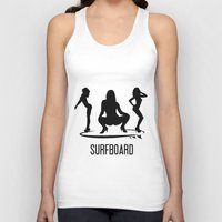 surfboard Tank Tops featuring surfboard by August Riche