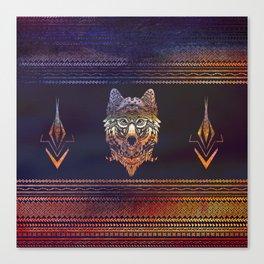 Tribal Wolf Paint Translucent Canvas Print