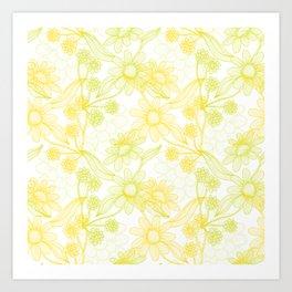 Yellow Camomiles Art Print