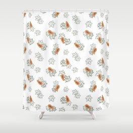 Pretty Papaya Shower Curtain