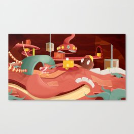 The Food In My Mouth Canvas Print