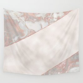 French polished rose gold marble & pearl Wall Tapestry