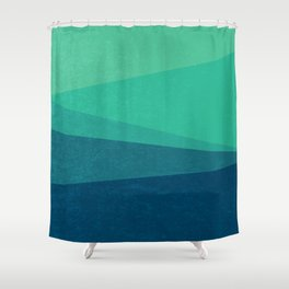 Stripe VIII Minty Fresh Shower Curtain