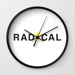 Radical - Black on White Wall Clock