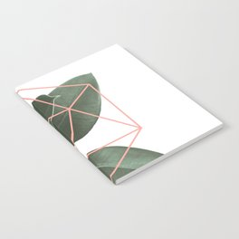 Geometric greenery Notebook