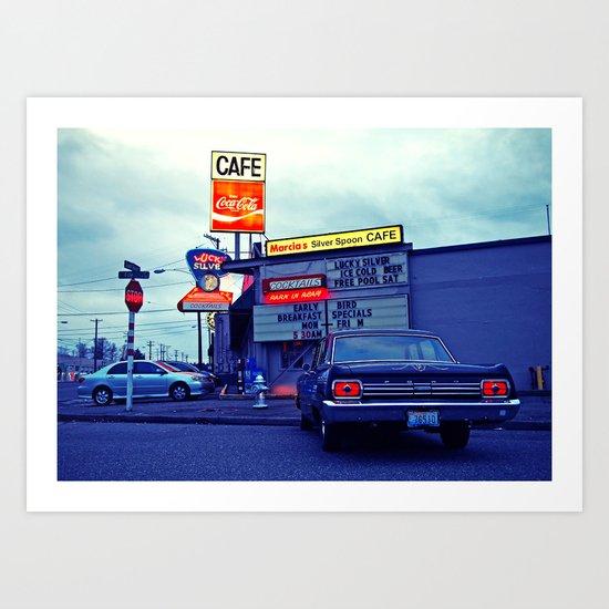 American cafe Art Print