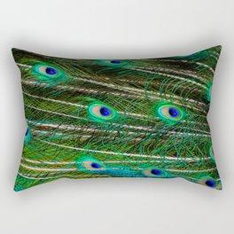 Peacock Feathered Rectangular Pillow