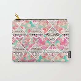 Aztec Floral  Diamond Carry-All Pouch
