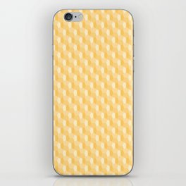 3D Optical Illusion Pattern: Yellow Dodecahedron iPhone Skin