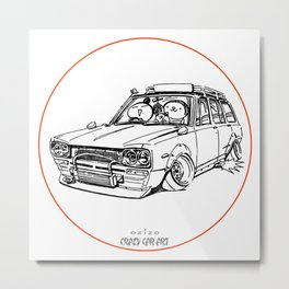Crazy Car Art 0186 Metal Print