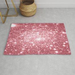 Pink Sparkle Stars Rug