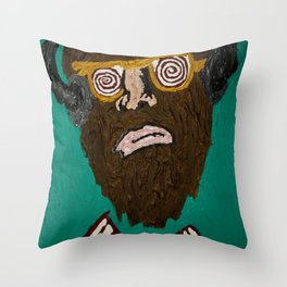 music brainwash  Throw Pillow