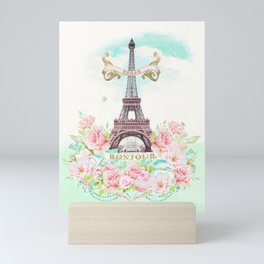 Eiffel Tower in Spring Mini Art Print
