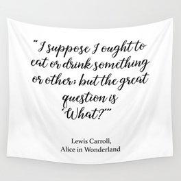Eat or drink - Alice in Wonderland Wall Tapestry