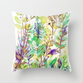 Leaves texture 02 Throw Pillow