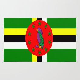 . Flag of Dominica Rug