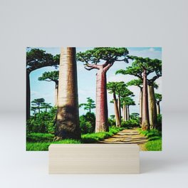 The Disappearing Giant Baobab Trees of Madagascar Landscape Painting Mini Art Print